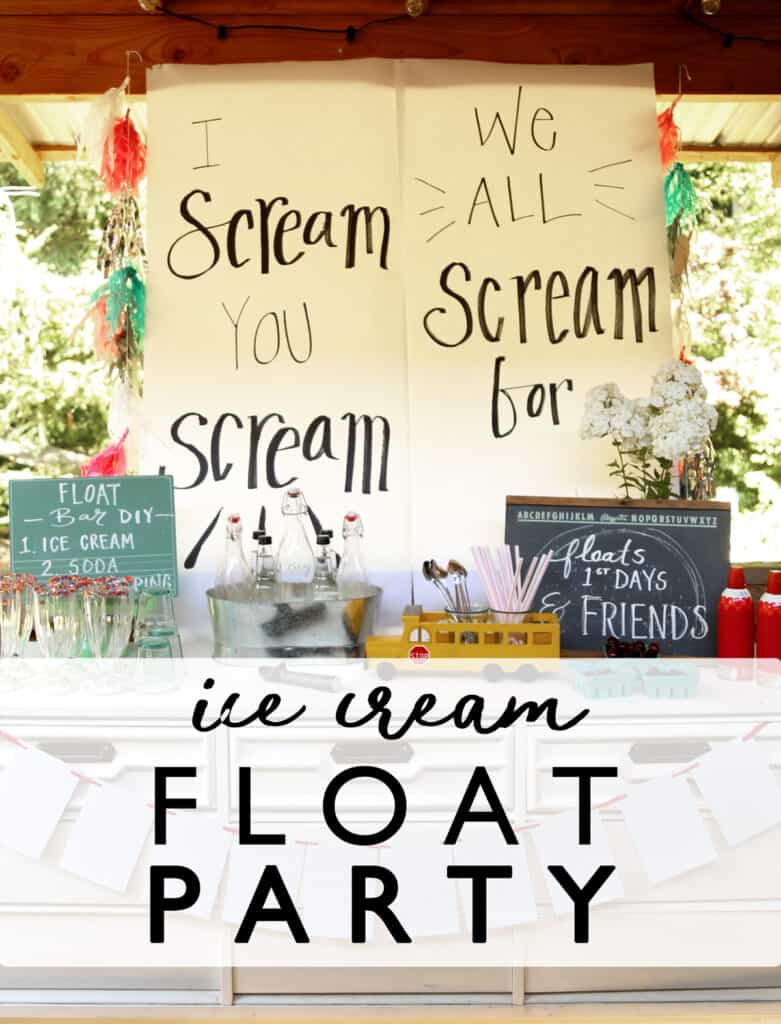 A First Days Floats (and Friends!) Party Ice Cream Float Party is such a great way to celebrate back to school- or any day! ice cream floats | ice cream party | back to school | first day of school traditions