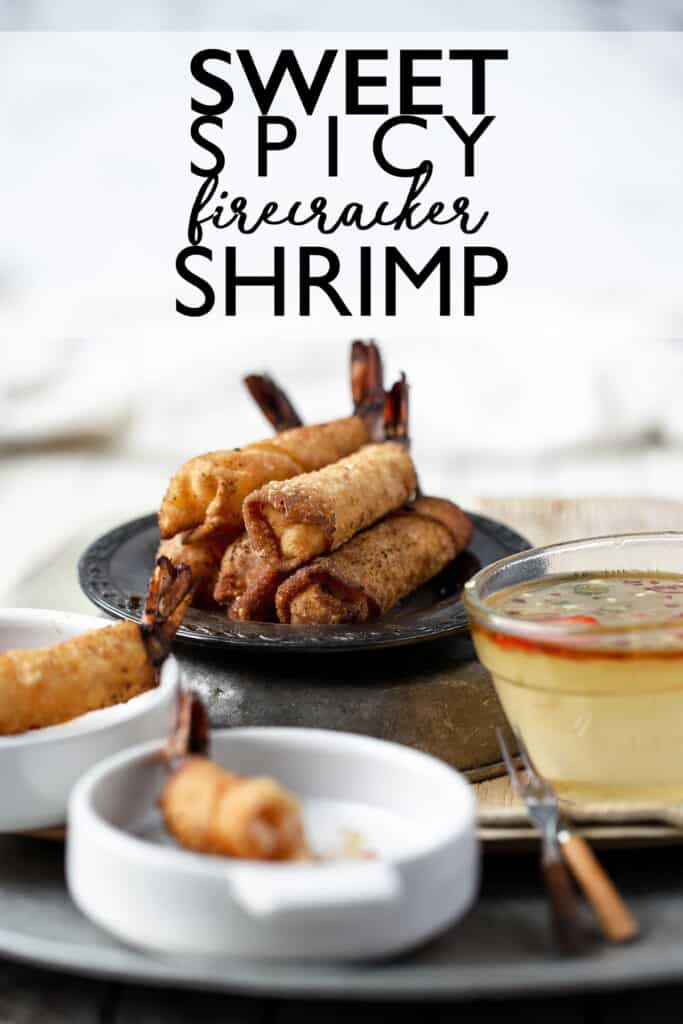 Firecracker Shrimp Rolls are a handheld appetizer with a sweet and spicy flavor and addicting crunch that keeps you coming back for more! Sweet Spicy Firecracker Shrimp | Sweet Shrimp | Spicy Shrimp | Shrimp egg rolls | shrimp lumpia | shrimp recipe | make ahead appetizer