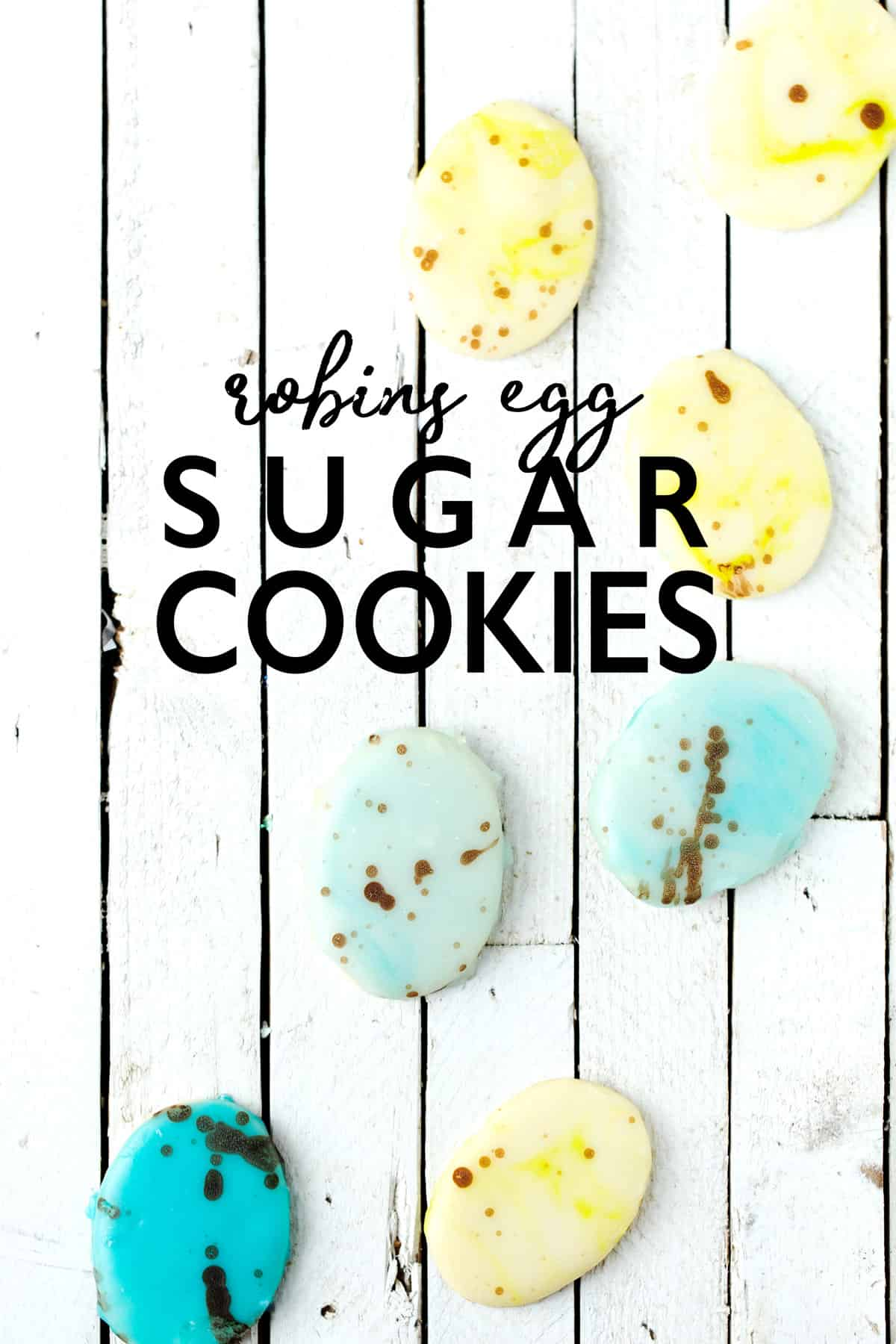 Speckled Robins Egg Easter Cookies with quick poured frosting are easy to make, taste delicious and look both adorably sophisticated in their own natural way. Easter egg cookies | sugar cookie recipe | speckled quail eggs | robin egg blue