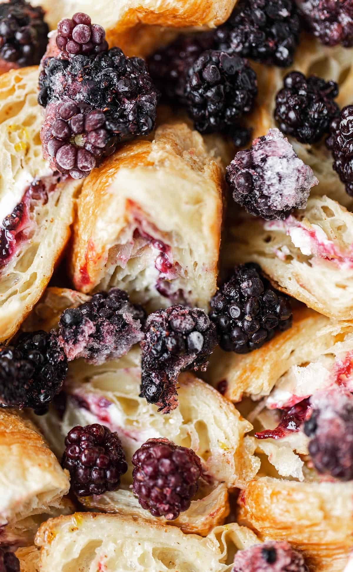 Use fresh or frozen berries for French toast bake