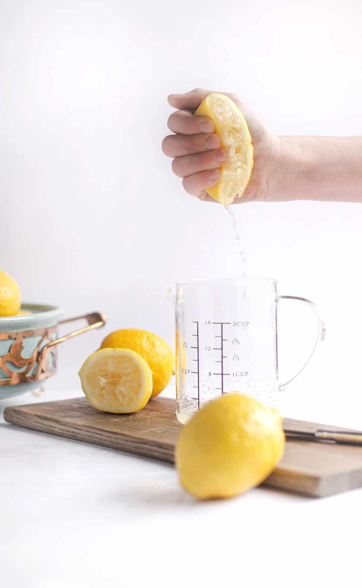Freshly squeezed lemons