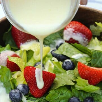 Creamy Lemon Salad Dressing is a homemade salad dressing recipe that can be used in so many ways! | easy lemon salad dressing | lemon salad dressing recipe | creamy lemon dressing | fish marinade