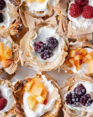 Easy No Bake Cheesecake Mini Fruit Tarts with mini phyllo tart shells take just a few minutes to make with any mix of fresh (or frozen!) fruit you have on hand. fruit tartlets   mini fruit tarts   fruit tartlets recipe
