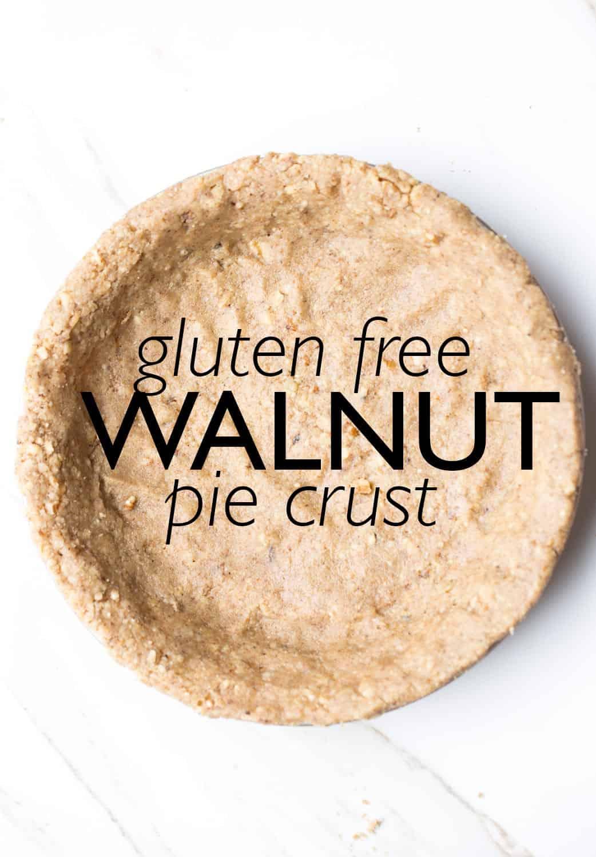 Gluten free walnut pie crust