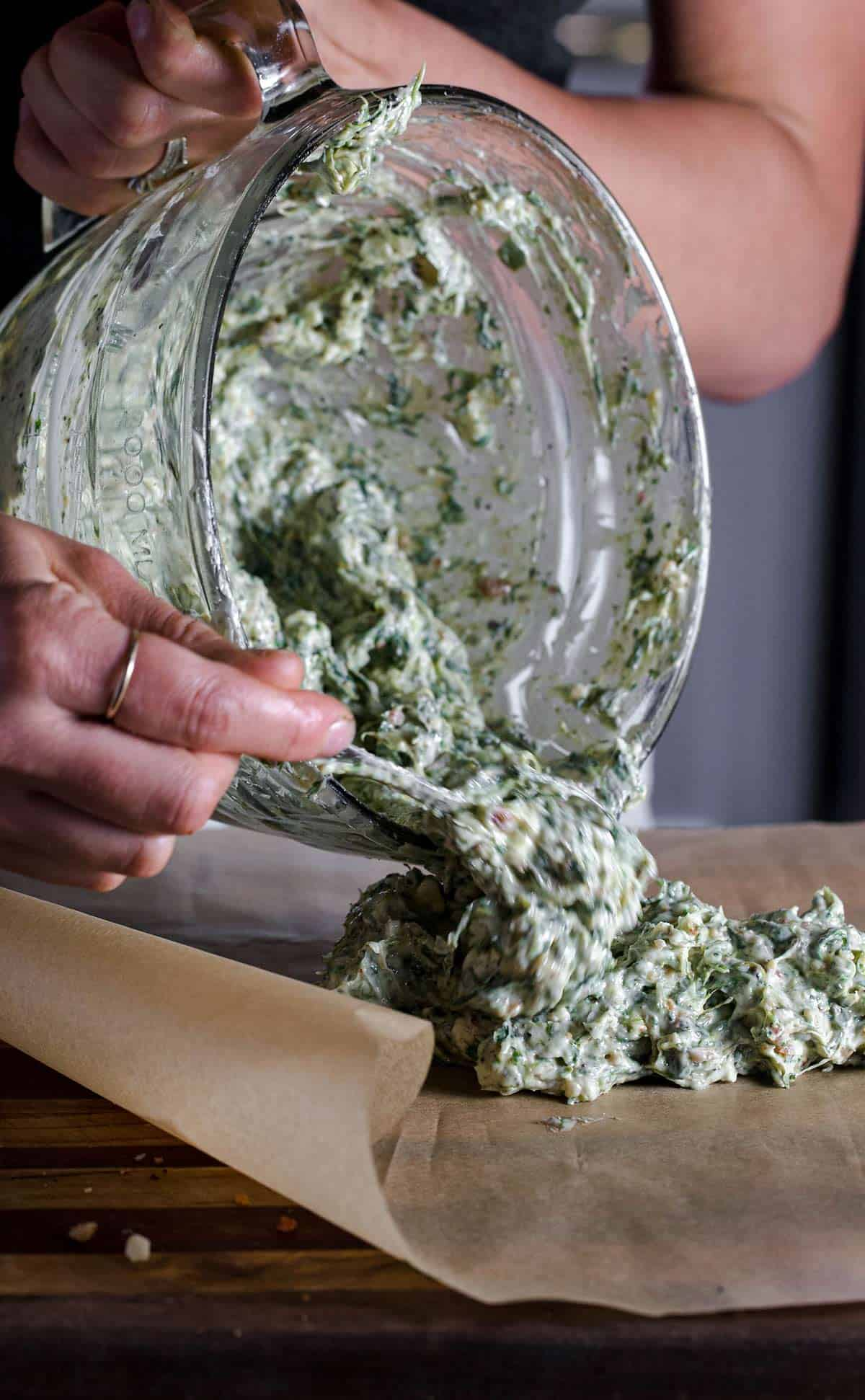 How to make bacon blue cheese compound butter